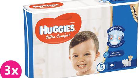 3x HUGGIES® Ultra Comfort 5 (12-22 kg) 46 ks – jednorázové pleny