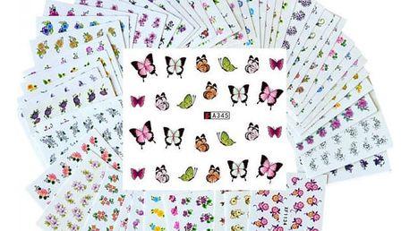Nálepky na nehty - 50 listů