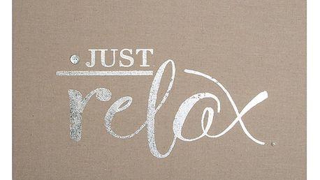 Zdobený látkový obraz Graham & Brown Relax,50x40cm