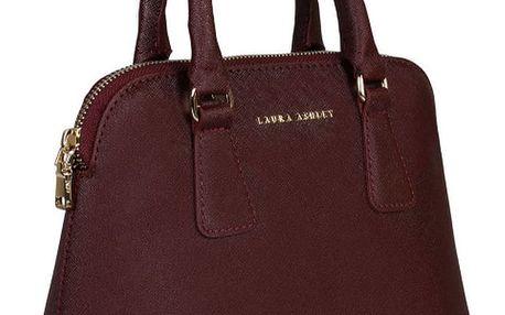 Červená kabelka ze saffiano kůže Laura Ashley Charlton