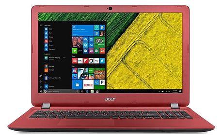 Notebook Acer ES15 (ES1-523-4733) (NX.GL0EC.002) černý/červený Software Microsoft Office 365 pro jednotlivce CZ + Software F-Secure SAFE, 3 zařízení / 6 měsíců + Monitorovací software Pinya Guard - licence na 6 měsíců v hodnotě 2 278 Kč + DOPRAVA ZDARMA