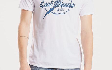 Tričko LEVI'S Graphic Setin Neck 2 Bi Levi Strauss L Bílá