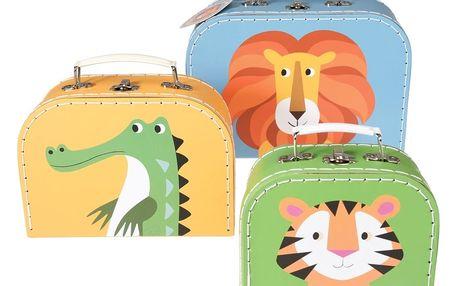 Sada 3 dětských kufříků Rex London Colourful Creatures