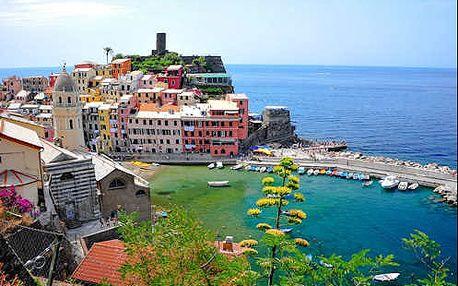 Intenzivní 5 denní zájezd TOSKÁNSKO. Siena, San Gimignano, Pisa, Cinque Terre + koupání v moři