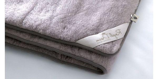 Šedá deka z merino vlny Royal Dream,220x200cm