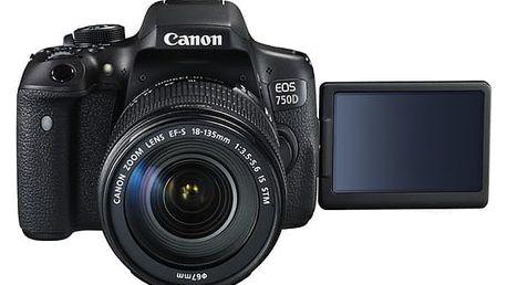 Digitální fotoaparát Canon EOS 750D + 18-135 STM černý (0592C032)