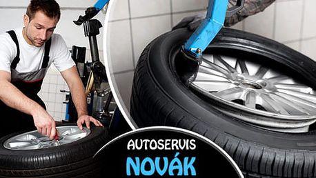 Profesionální přezutí pneu nebo výměna celých kol