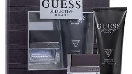 GUESS Seductive Homme dárková kazeta pro muže toaletní voda 30 ml + sprchový gel 200 ml