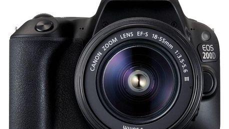 Canon EOS 200D, černá + 18-55mm