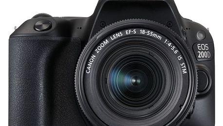 Digitální fotoaparát Canon EOS 200D + EF18-55 IS STM černý (2250C002)