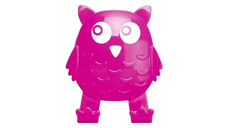 Univerzální háček OWL na přísavku, věšák - barva růžová, WENKO