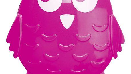 Wenko Univerzální háček OWL na přísavku, věšák barva růžová