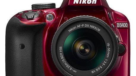 Nikon D3400 + AF-P 18–55VR Red KIT