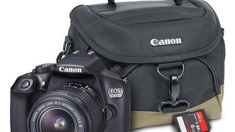 Digitální fotoaparát Canon EOS 1300D + 18-55 mm DC III černý Starter Kit černý