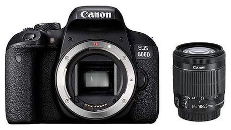 Digitální fotoaparát Canon EOS 800D + 18-55 IS STM černý (1895C002AA)