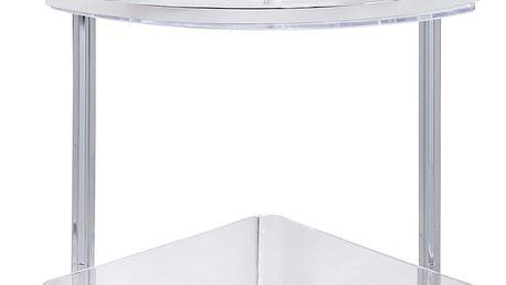 Wenko Koupelnová rohová police QUADRO,VacuumLoc do sprchového koutu, 2 úrovně