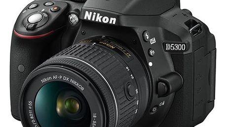 Digitální fotoaparát Nikon D5300 + AF-P 18-55 VR černý