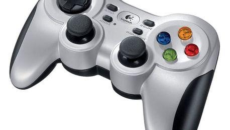 Gamepad Logitech F710 Wireless pro PC stříbrný (940-000145)