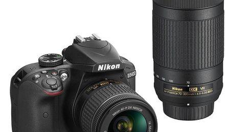 Nikon D3400 AF-P 18-55 VR + AF-P 70-300VR