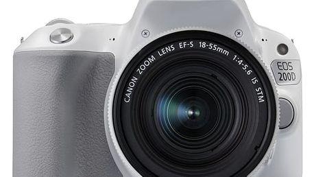 Digitální fotoaparát Canon EOS 200D + EF18-55 IS STM bílý (2253C001)