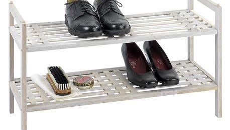 Wenko Dřevěný stojan na boty, obuv, NORWAY 2 úrovně