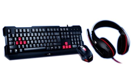 GENIUS GX GAMING KMH-200/ Herní set klávesnice s myší a headsetem
