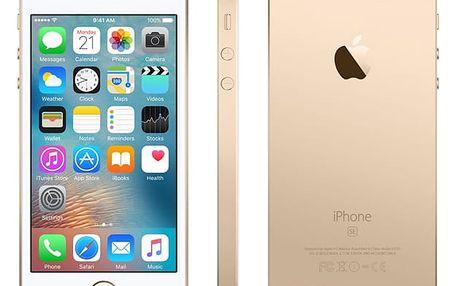 Mobilní telefon Apple iPhone SE 32 GB - Gold + dárek (MP842CS/A)