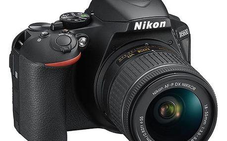 Digitální fotoaparát Nikon D5600 + 18-55 AF-P VR černý (VBA500K001)