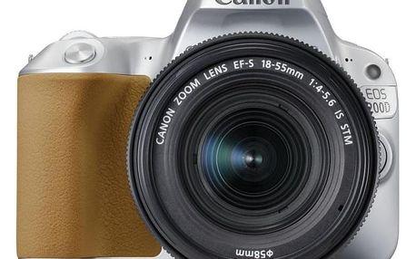 Canon EOS 200D Silver + EF18-55STM CP