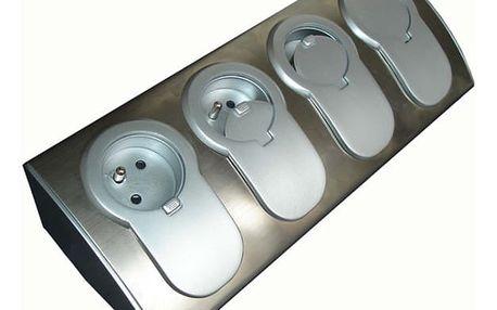 Zásuvka HBF 760070 Kuchyňská rohová lišta se 4 zásuvkami 230 V
