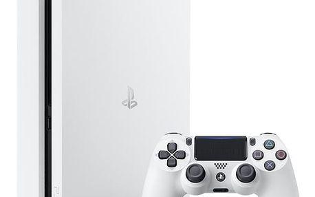 Herní konzole Sony PlayStation 4 SLIM 500GB bílá (PS719816164)