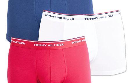 3PACK pánské boxerky Tommy Hilfiger trunk tricolor