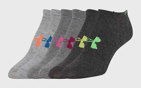 Ponožky Under Armour W Solid 6 Pks No Show Barevná