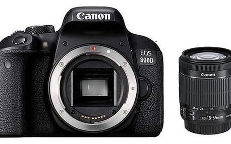 Digitální fotoaparát Canon 800D + 18-55 IS STM (1895C002AA) černý + DOPRAVA ZDARMA