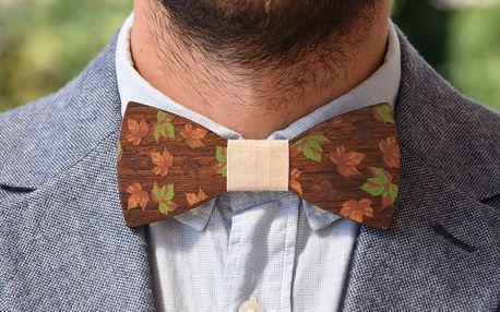 Stylový dřevěný motýlek pro každou příležitost