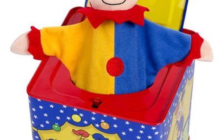 Hrající box s veselým klaunem