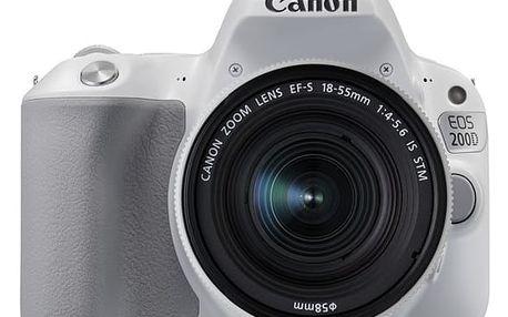 Digitální fotoaparát Canon 200D + 18-55 IS STM (2253C001) bílý Pouzdro na foto/video Canon SB100 černé v hodnotě 688 Kč + DOPRAVA ZDARMA