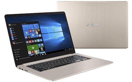 Notebook Asus S15 S510UQ-BQ265T (S510UQ-BQ265T) zlatý Software Microsoft Office 365 pro jednotlivce CZ + Software F-Secure SAFE, 3 zařízení / 6 měsíců + Monitorovací software Pinya Guard - licence na 6 měsíců v hodnotě 2 278 Kč + DOPRAVA ZDARMA