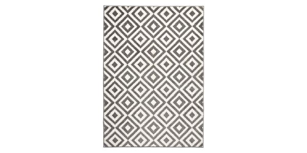 Šedo-bílý koberec Think Rugs Matrix, 120x170cm