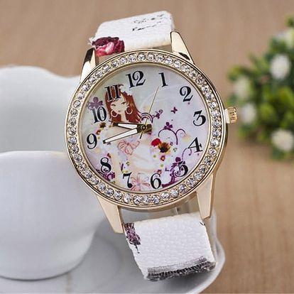 Pohádkové dívčí hodinky - různé barvy