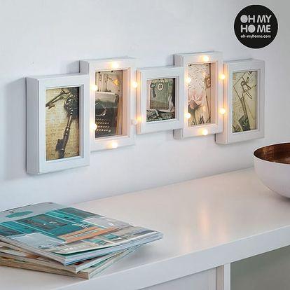 LED Rámeček na Fotky Oh My Home 5 fotek