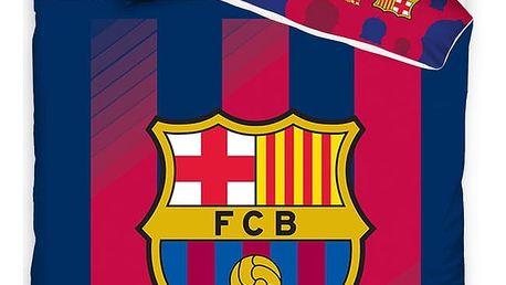 TipTrade Bavlněné povlečení FC Barcelona Blaugrana, 140 x 200 cm, 70 x 80 cm