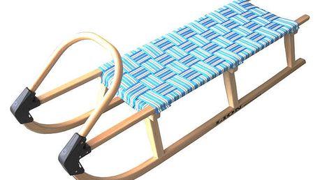 Sáně 125cm dřevěné - modré