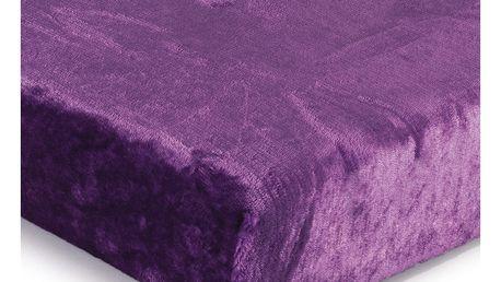 Jahu Prostěradlo Mikroplyš fialová, 180 x 200 cm