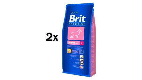 Brit Premium Dog Junior L 2 x 15 kg