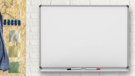 Bílá magnetická tabule na psaní včetně příslušenství