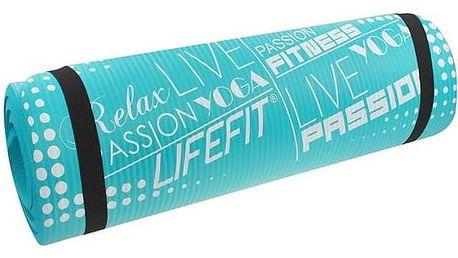 LIFEFIT Yoga Mat Exkluziv Plus 180x60x1,5cm tyrkysová