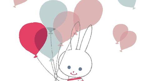 Nástěnné samolepky Art For Kids Balloon Rabbit