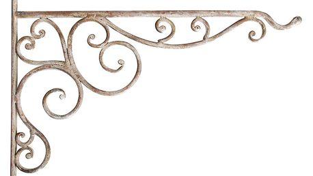 Nástěnná konzole se se závěsem na květináč / krmítko Esschert Design, výška24,5cm