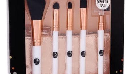 2K Let´s Get Perfect! dárková kazeta pro ženy štětec na pudr 1 ks + štětec na rty 1 ks + aplikátor na oční stíny 1 ks + štětec na oční stíny 1 ks + štětec na obočí 1 ks + taška